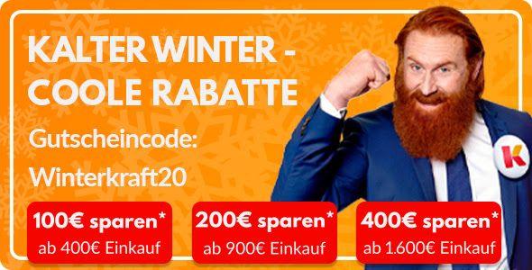 [Möbel Kraft] bis zu 100€, 200€ oder 400€ sparen - MBW: 400€, 900€ und 1600€ Euro