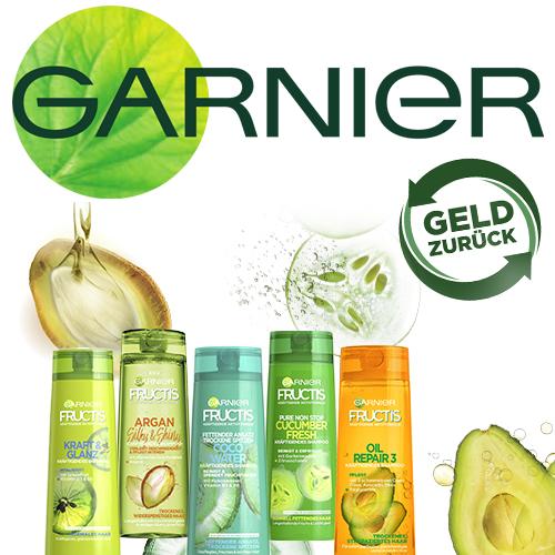 [GzG] GRATIS testen 100% Cashback auf GARNIER Fructis Shampoos, Spülungen & Kuren (bei nicht Zufriedenheit)