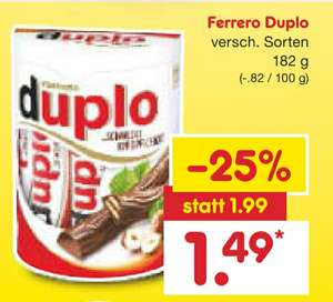 Netto / Duplo inkl. 10€-eCoupons DB -Bahn (MBW 29,90€)