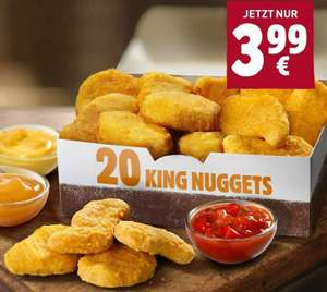 20x King Nuggets + 3 Dips für 3,99€ [Burger King App]