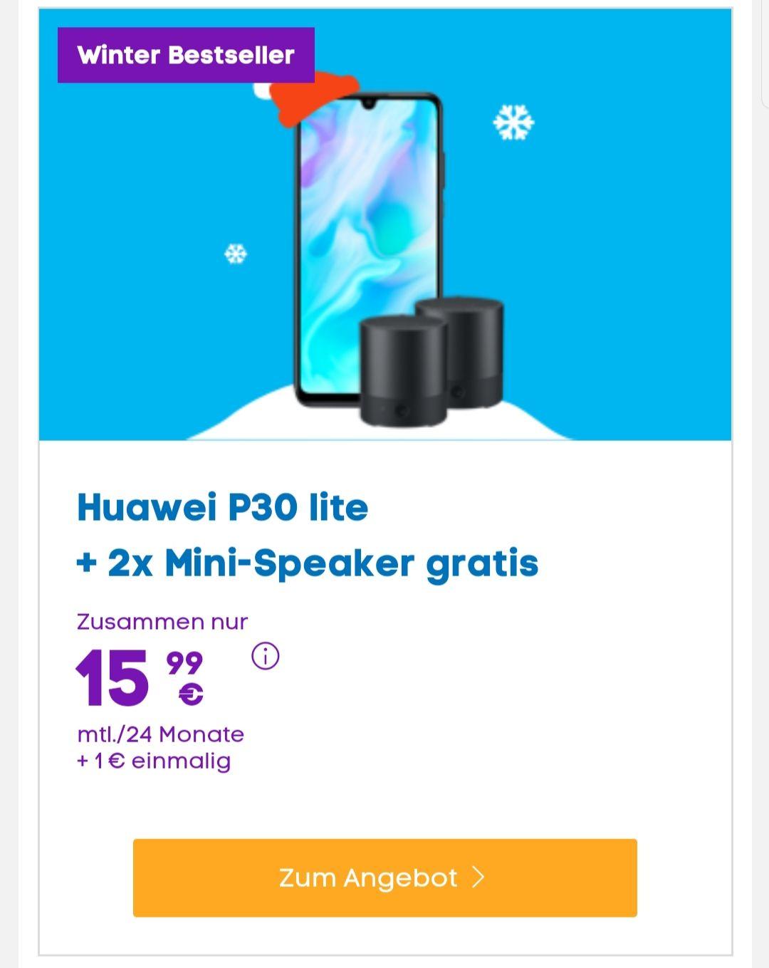 Huawei P30 Lite + 2x BlueTooth Speaker