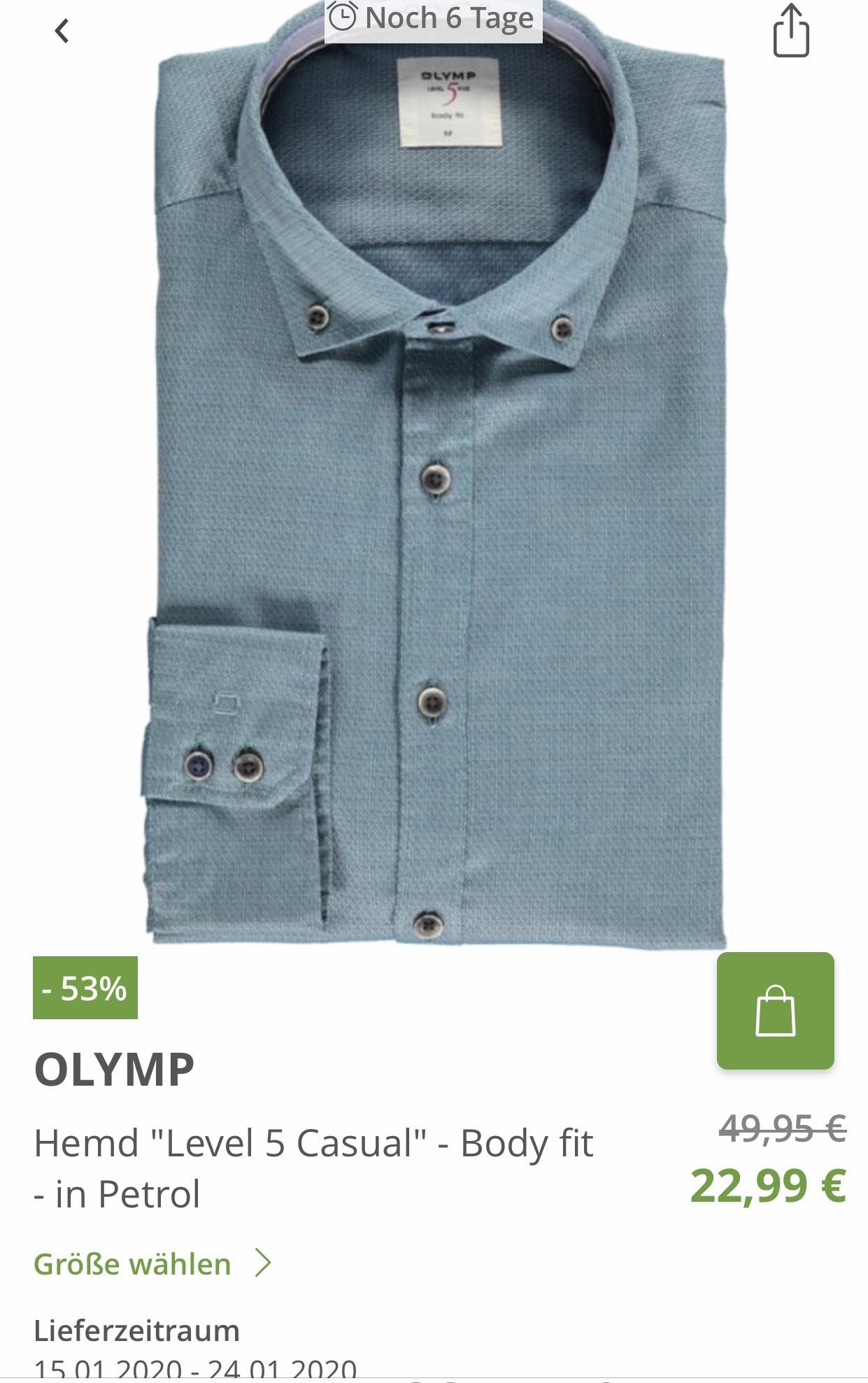 [Limango] OLYMP Hemden bis zu 57% reduziert