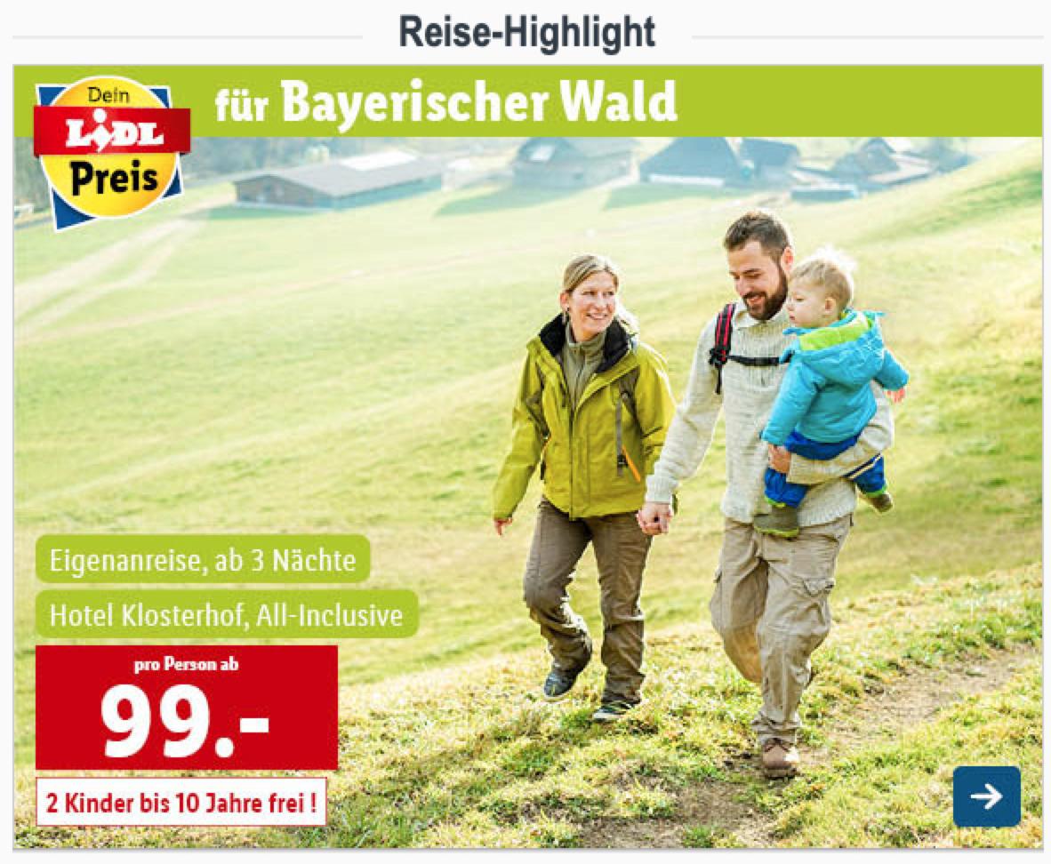 3 Näche All Inclusive im Bayrischen Wald ab 99€ p.P. - 1 Kind kostenlos / bei 2 Kindern 318€