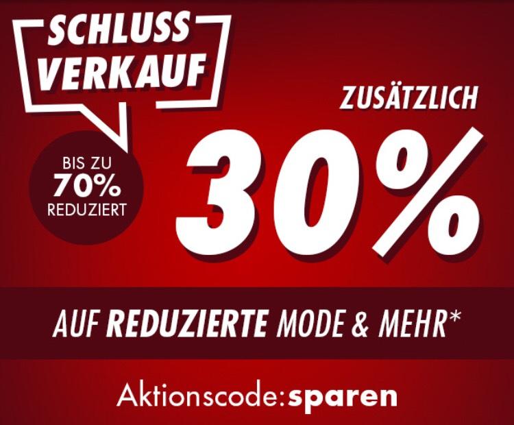 30% auf bereits reduzierte Ware im Schlussverkauf bei GALERIA.de und in den Shops
