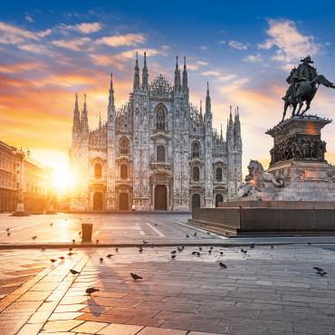 Flüge nach Mailand/Bergamo hin und zurück von Düsseldorf, Stuttgart, Berlin, Frankfurt, Hamburg, Bremen, Köln und Nürnberg (Jan - Mai)