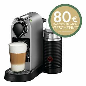 Krups XN 760B Nespresso New CitiZ&milk silber inkl. 80€ Kaffeeguthaben möglich