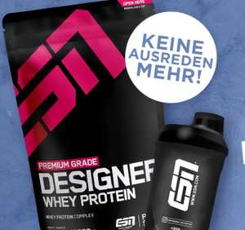 Fitmart: 20% Rabatt auf alle ESN Proteine oder 15% auf Diätprodukte, Riegel, Low Carb etc.!