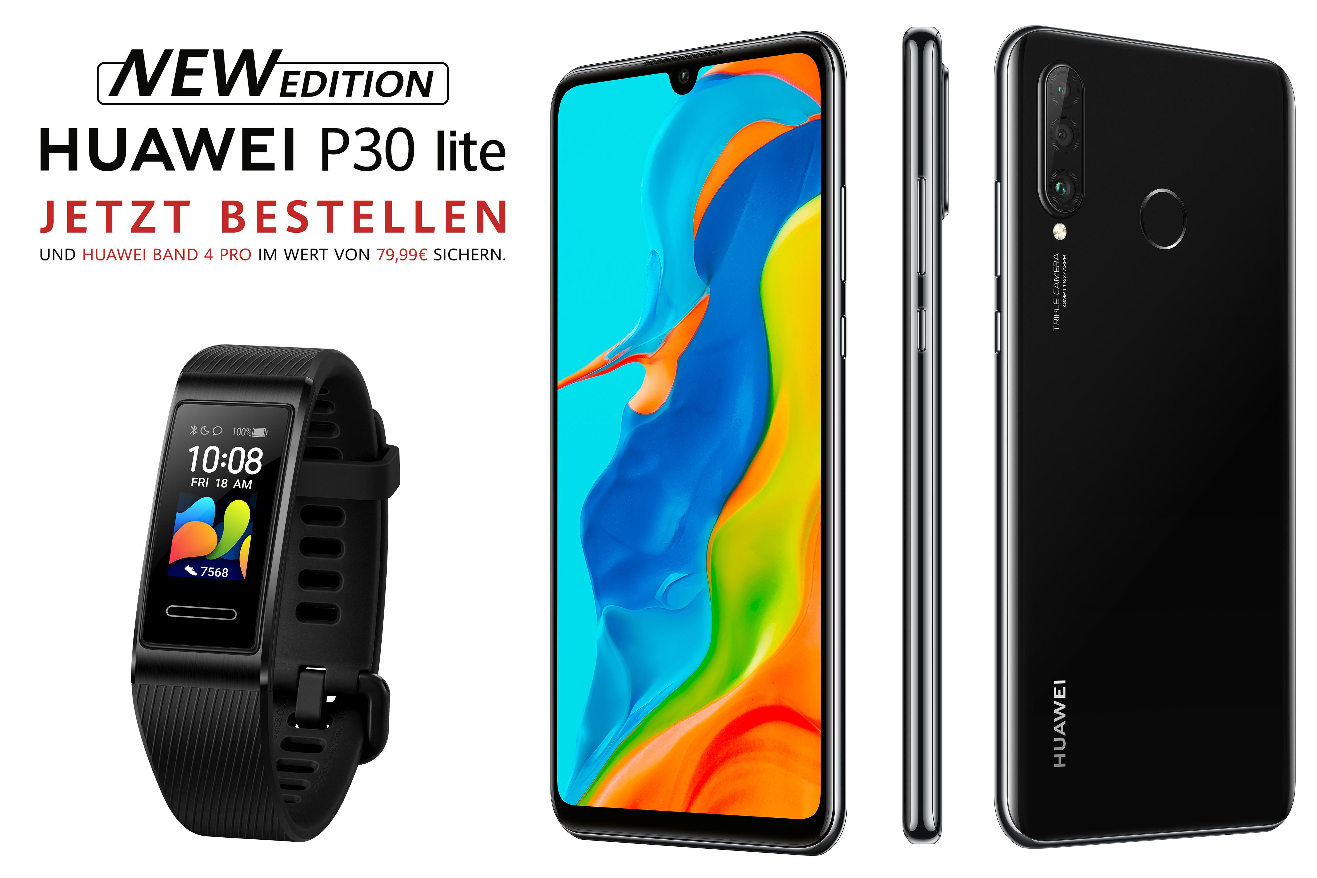 Blau Allnet + 5GB LTE Telefonica Netz + Huawei P30Lite NEW EDITION 256GB + Huawei Band4 Pro 17,99€/M / alternativ mit Huawei Nova5T 15,99€/M