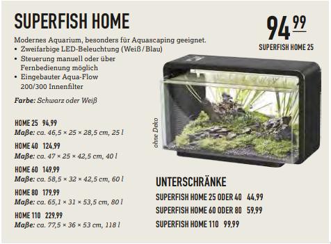[Kölle Zoo, Lokal] Superfish Home 60 - LED Aquarium