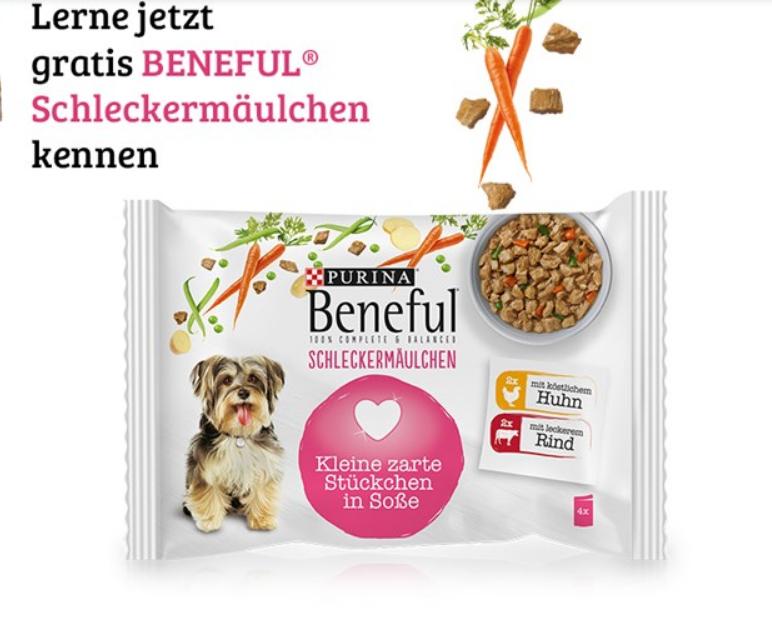 Purina Beneful Schleckermäulchen (Huhn + Rind) 100g gratis testen