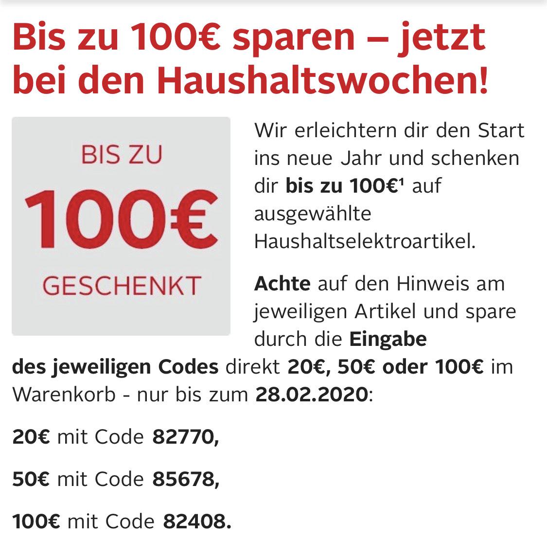 Otto bis zu 100€ geschenkt bei Haushaltselektronik