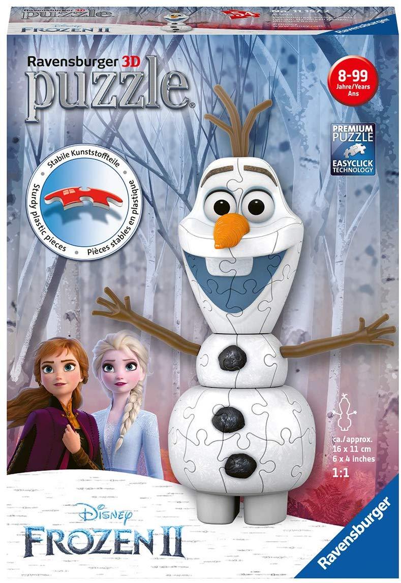 [Amazon Prime] Ravensburger 11157 - Frozen 2: Olaf - 54 Teile 3D Puzzle, ab 8 Jahren