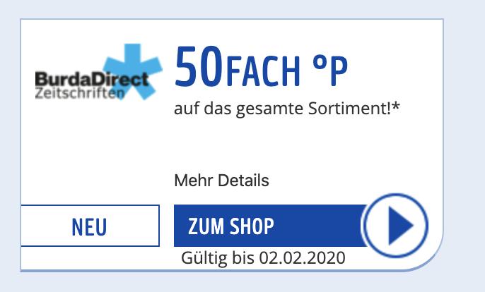 [BurdaDirect] 50-fach Payback Punkte auf alle Zeitschriften-Abos