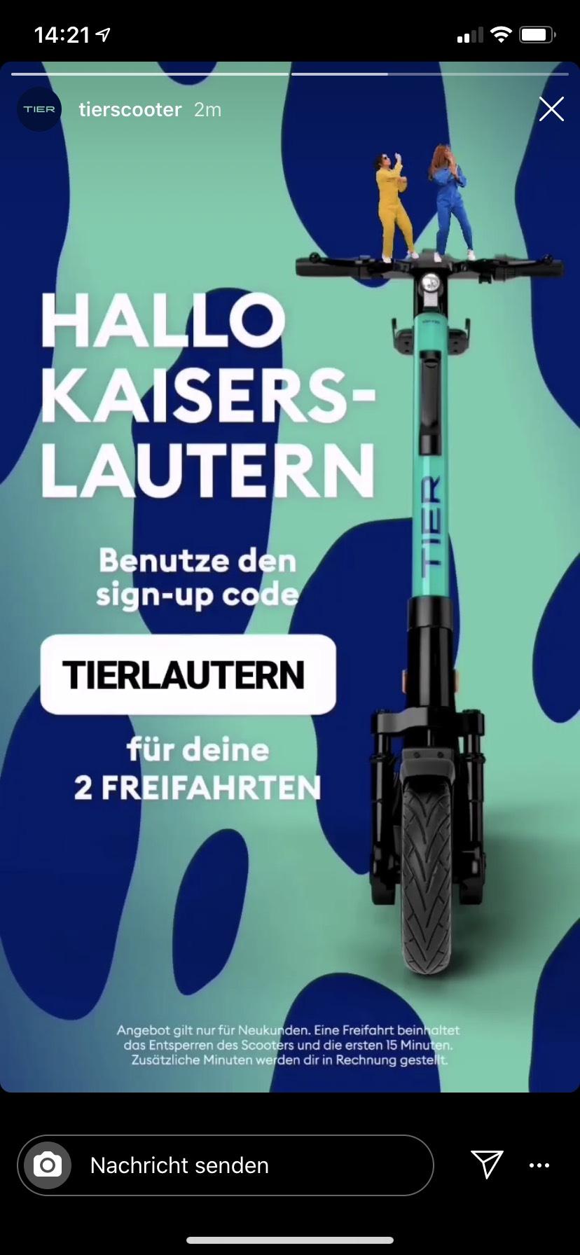 """Lokal Kaiserlautern Tier Neukunden 2 Freifahrten """"TIERLAUTERN"""""""