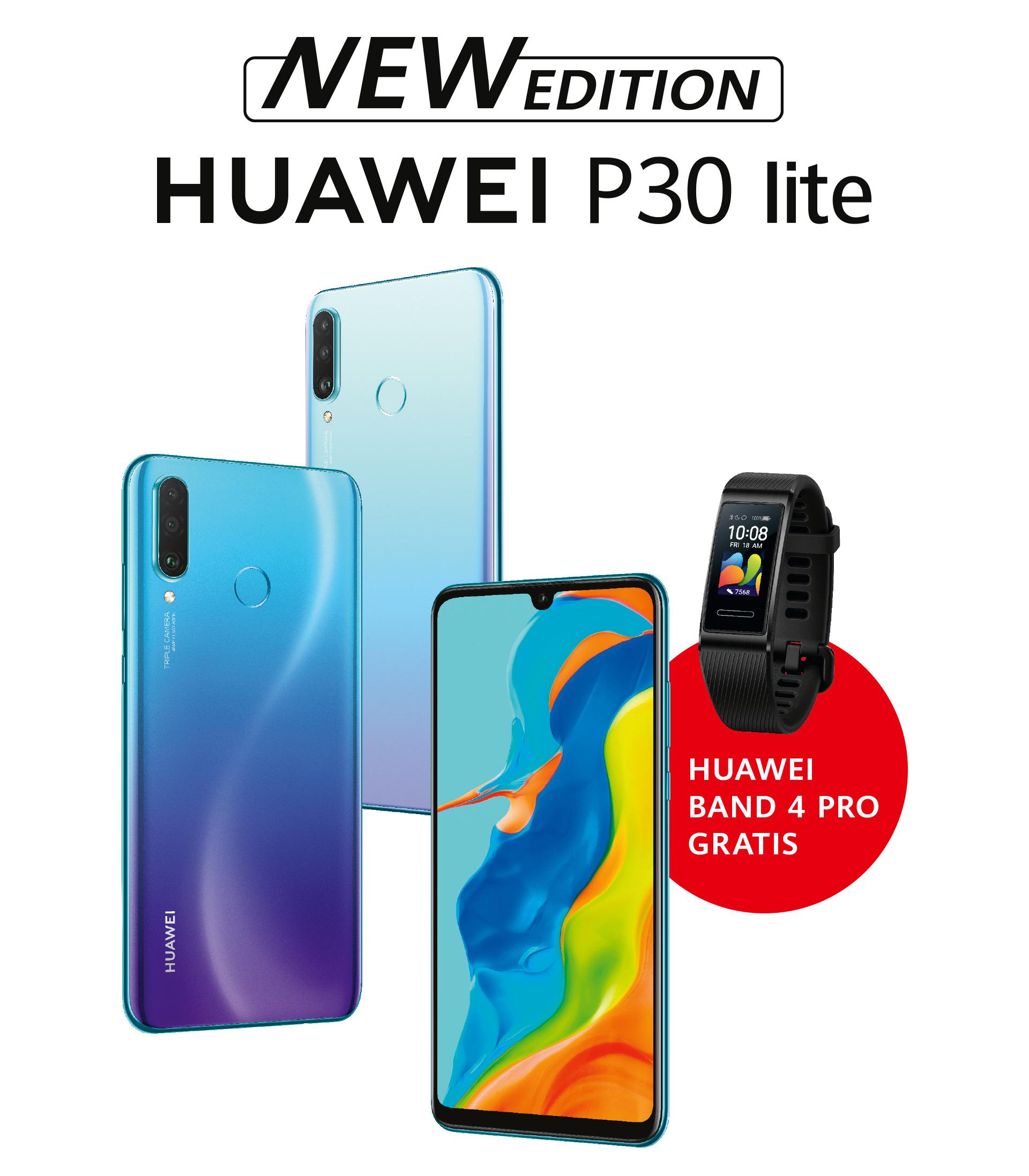 Huawei P30 Lite (New Edition) incl. gratis HUAWEI Band 4 Pro(Wert ca. 57€)
