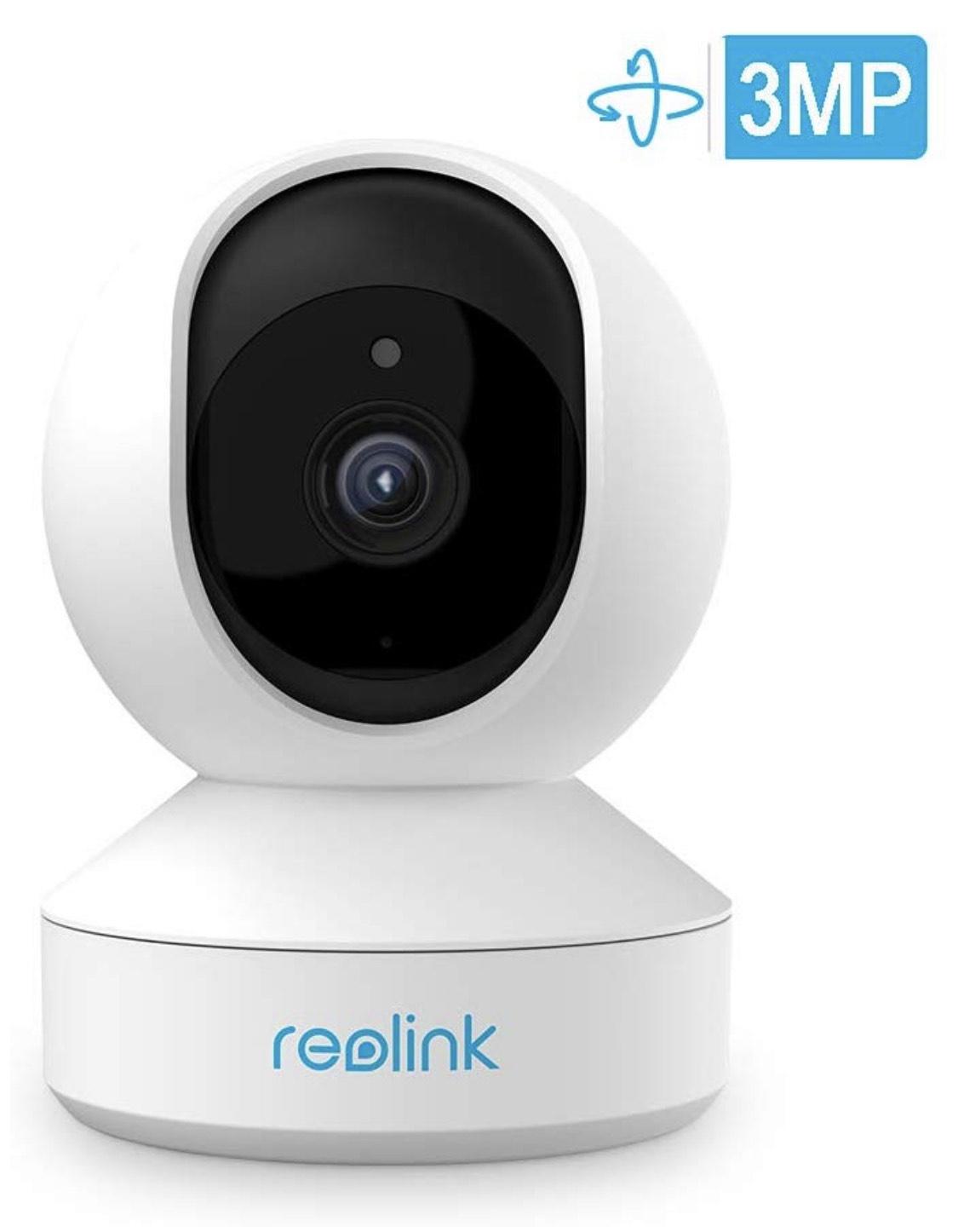 Reolink E1 3MP, 2,4GHz WLAN Kamera, schwenkbar, Zweiwege-Audio, IR-Nachtsicht und Bewegungserkennung