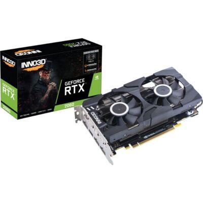 Inno3D GeForce® RTX 2060 6GB Twin X2 - 1x HDMI/3x DisplayPort