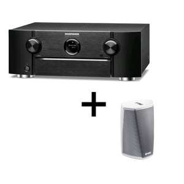 HEOS 1 HS2 und 9.2 AV Receiver Marantz SR6014 (2x110W @8Ω 0,08% THD 20Hz-20kHz, Multiroom, 4K/60Hz, Dolby Atmos, IMAX Enhanced, AirPlay 2)