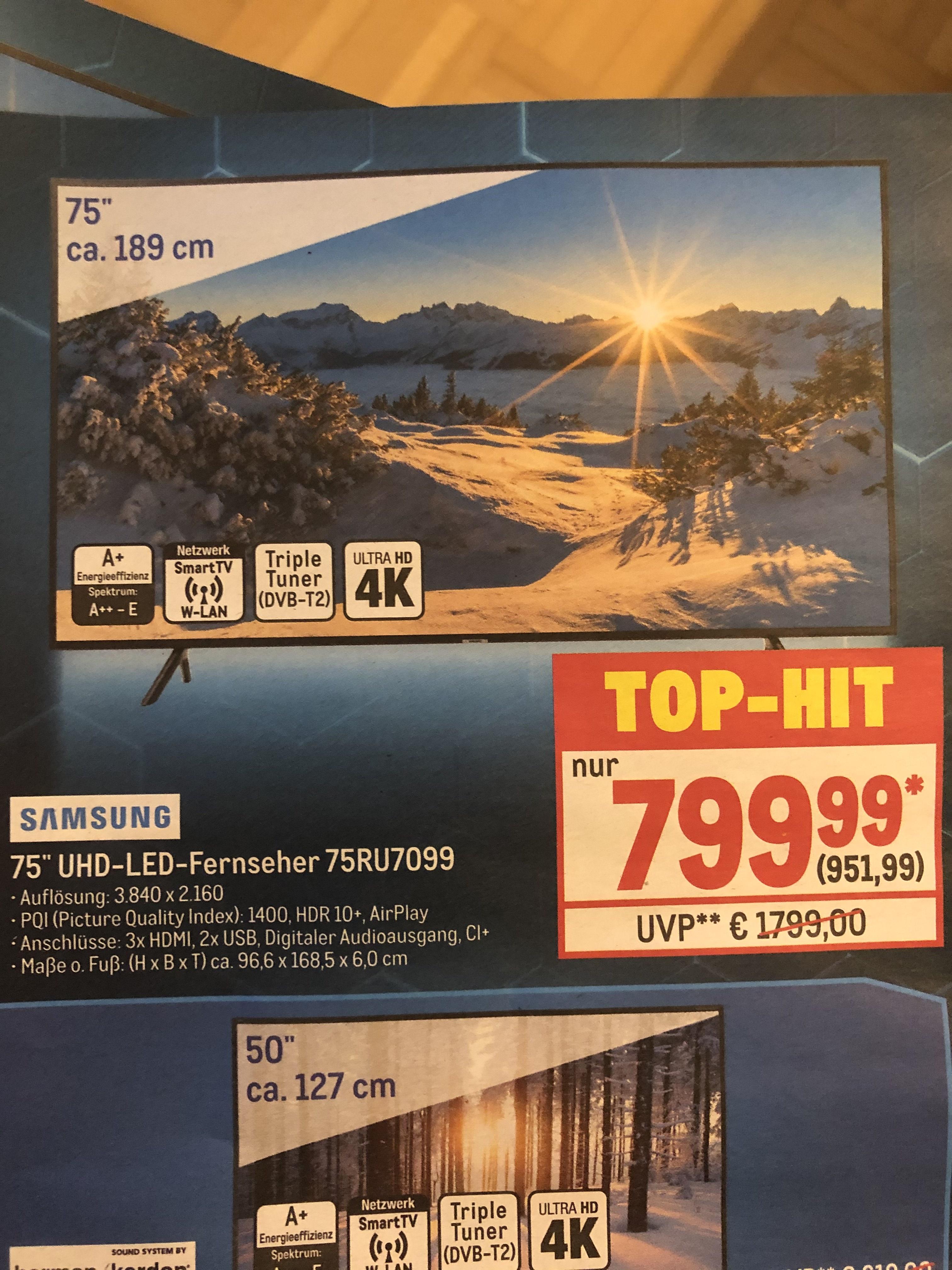 Metro Samsung 75 Zoll 75RU7099 LED TV