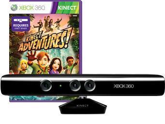 Xbox 360 Kinect Sensor + Kinect Adventures  für 80,97€ bei Amazon