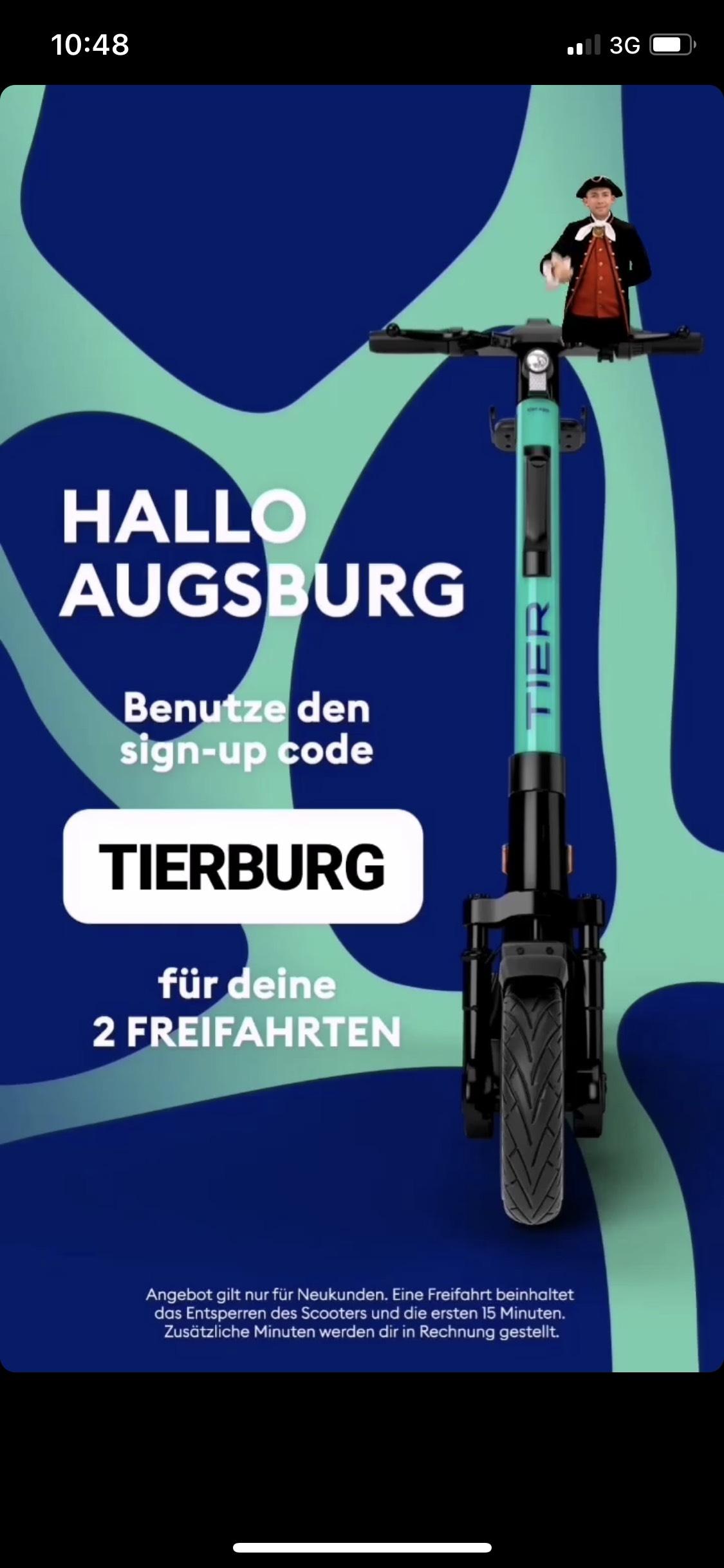 [Lokal] Tier Augsburg, Dresden 2 Freifahrten Neukunde