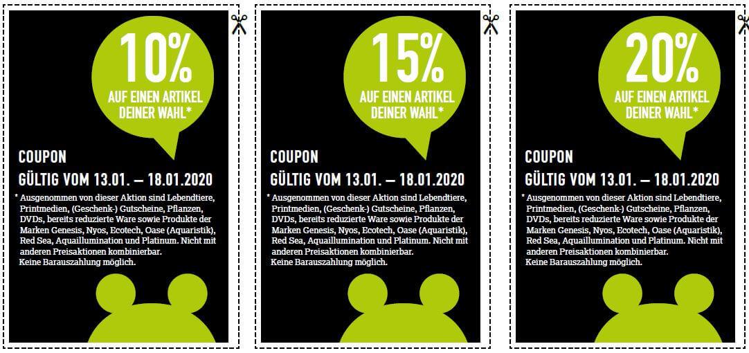 20%, 15% und 10% Gutschein auf einen Artikel bei Kölle Zoo [lokal]