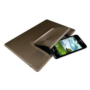 Asus PadFone 25,7 cm (10,1 Zoll) Tablet-PC (Qualcomm 8260, 1,5GHz, 1GB RAM, 16GB, UMTS, GPRS, WiFi, Android 4.0) inkl. Phone und Stylus @ Amazon WHD für 384,55 Euro