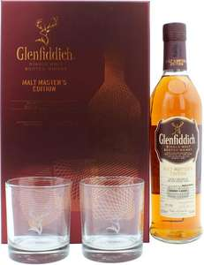 Glenfiddich Malt Master's Edition Geschenkset mit 2 Tumblern 43.0% 0,7l. Single Malt Whisky