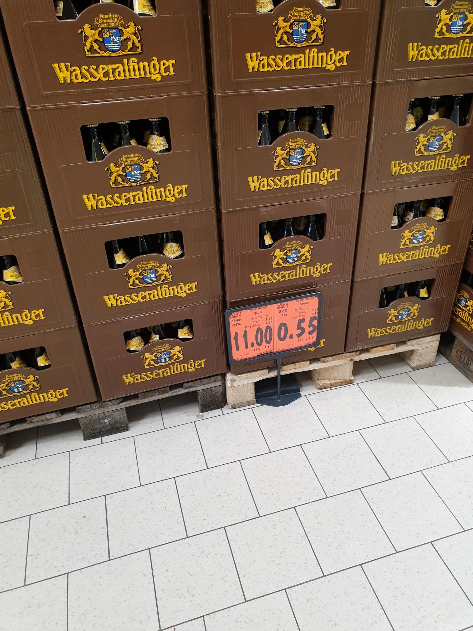 [LOKAL AALEN] Wasseralfinger Spezial Bier im Kaufland Julius Bausch Straße