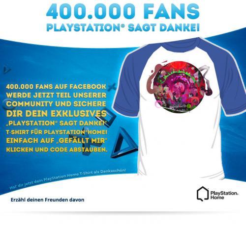 Kostenloses PlayStation Home T-Shirt für deinen PSH Avatar