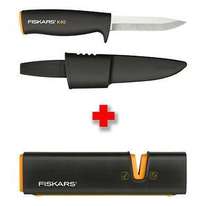 Fiskars K40 Universalmesser im Bundle mit Xsharp Messerschärfer für 17,99€ @eBay