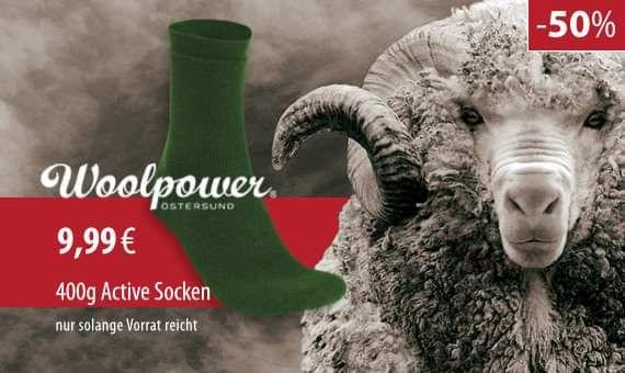 [Woolpower] 400g Merino Wollsocken in Größe 40-44