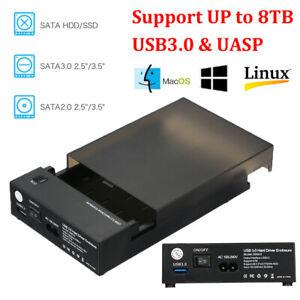 """Externe 2.5"""" oder 3.5"""" SATA Festplattengehäuse mit USB3.0 für SSD HDD / 80cm Case"""