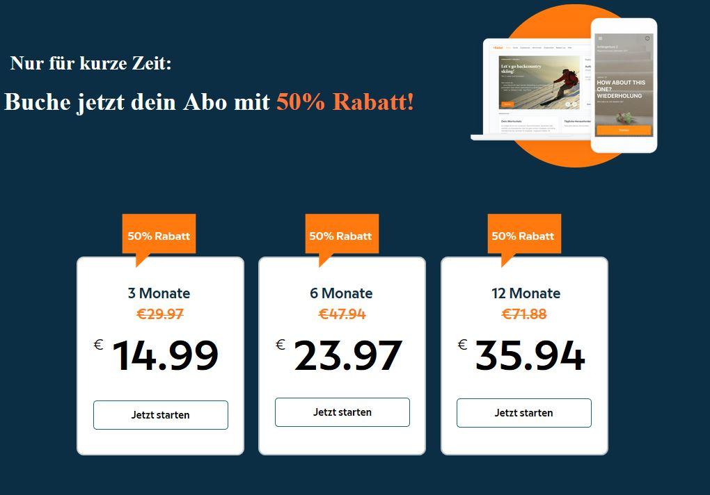 50% auf Babbel-Abos (Sprachkurse)