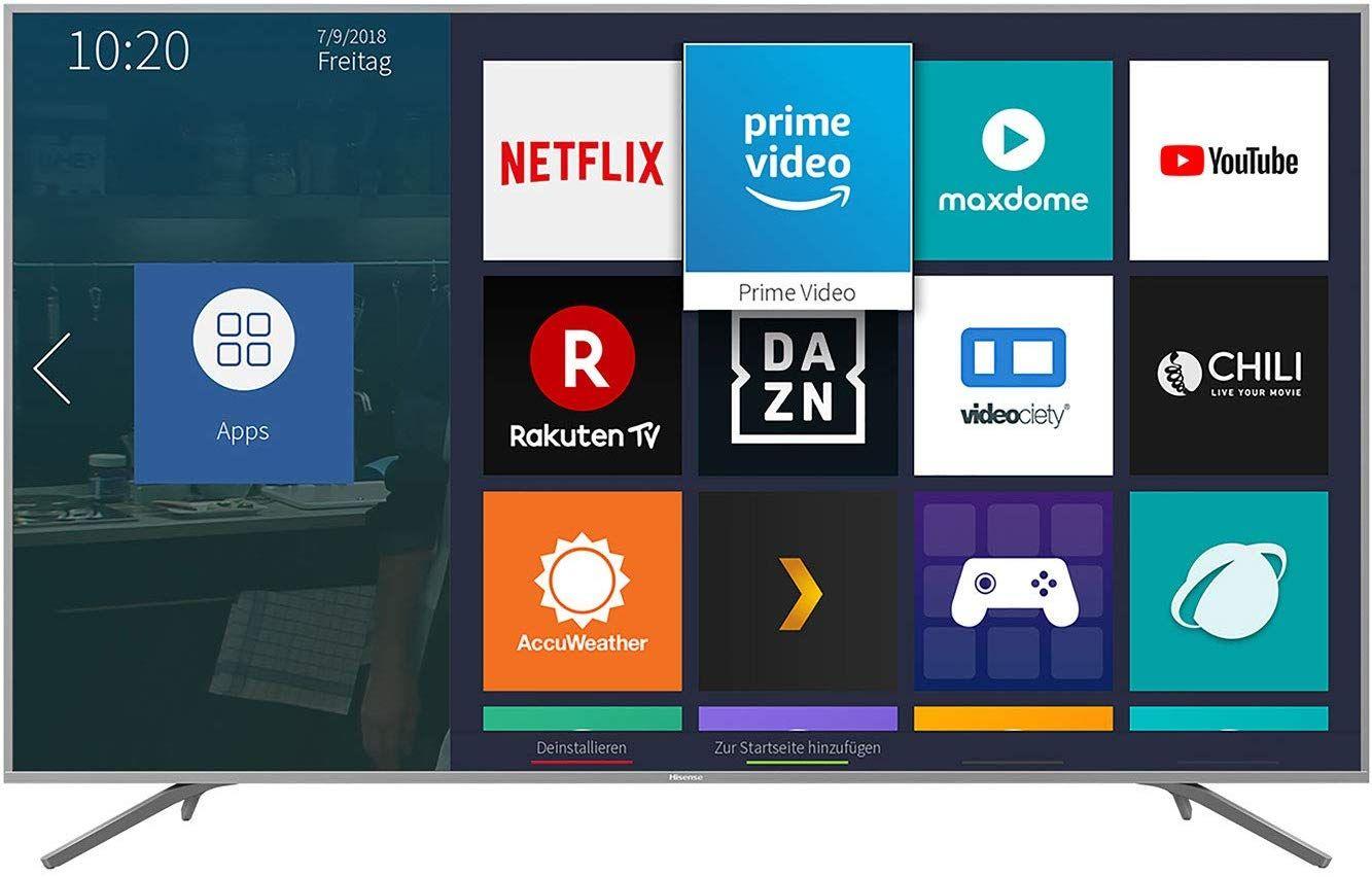 Hisense H75BE7410 189 cm (75 Zoll) Fernseher (4K Ultra HD, HDR, DolbyVision, Triple Tuner, Smart-TV, Metallgehäuse) [Amazon]