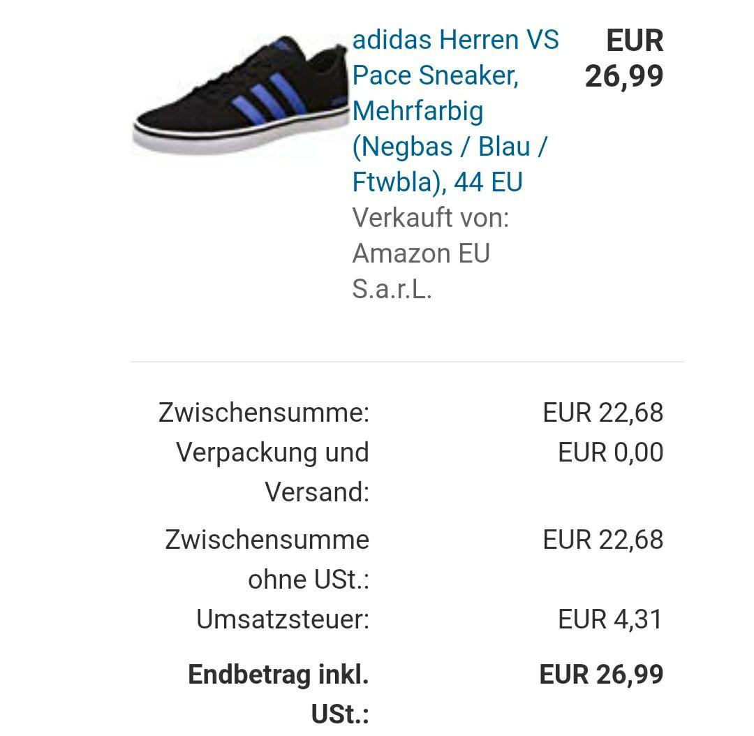 [Amazon] Adidas Herren Sneaker VS Pace (Größe 44) für 26,99€ inkl. Versand (Prime)