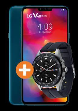 LG V40 Thinq und Watch W7 im Vodafone Otelo (10GB LTE, Allnet/SMS) mtl. 19,99€ einm. 69,95€ [keine Anschlussgebühr]