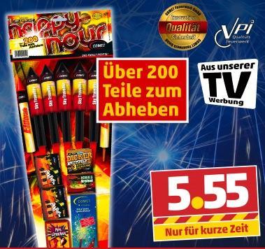 Feuerwerk Comet Happy-Hour-Sortiment für 5,55€ bei Penny