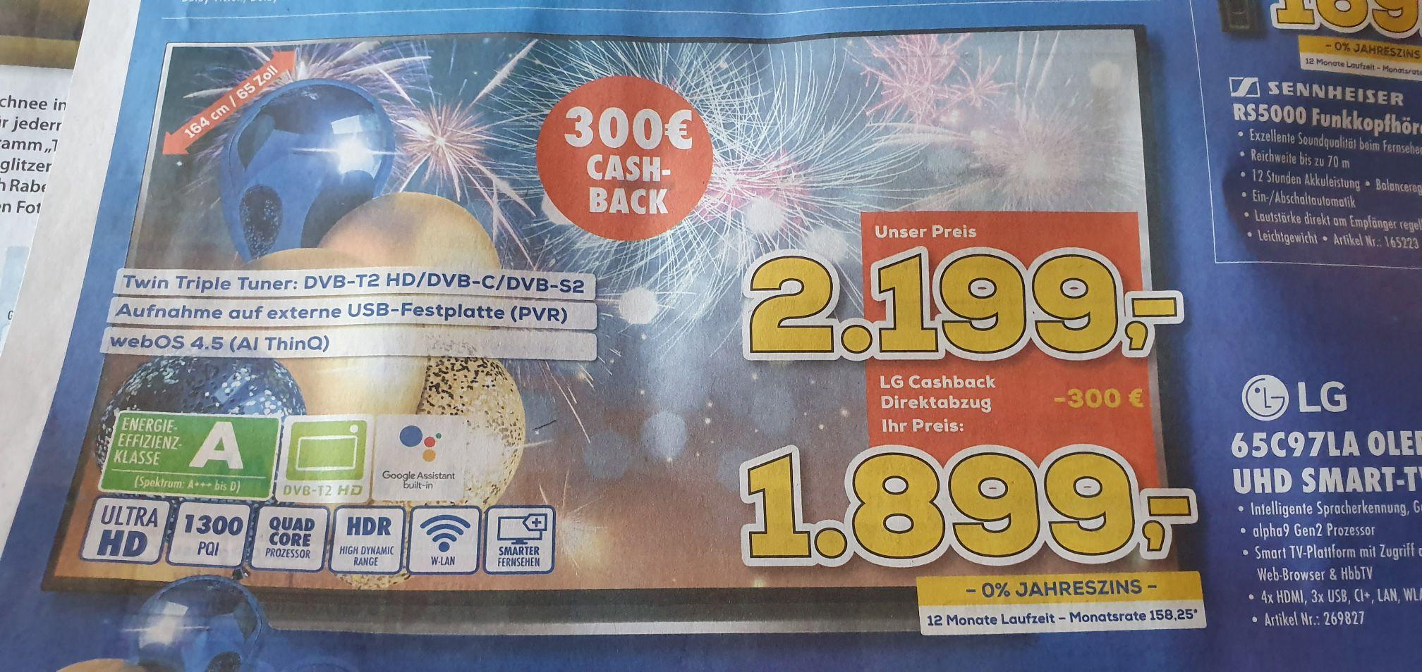 LG oled65c97la bei Berlet euronics lokal für 1899€ oder online 1938,90€