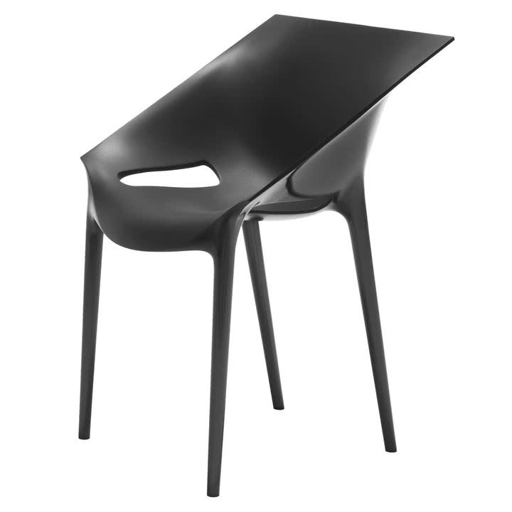 Kartell - Dr. Yes Indoor oder Outdoor Stuhl (schwarz, weiß oder grau) [Ikarus]