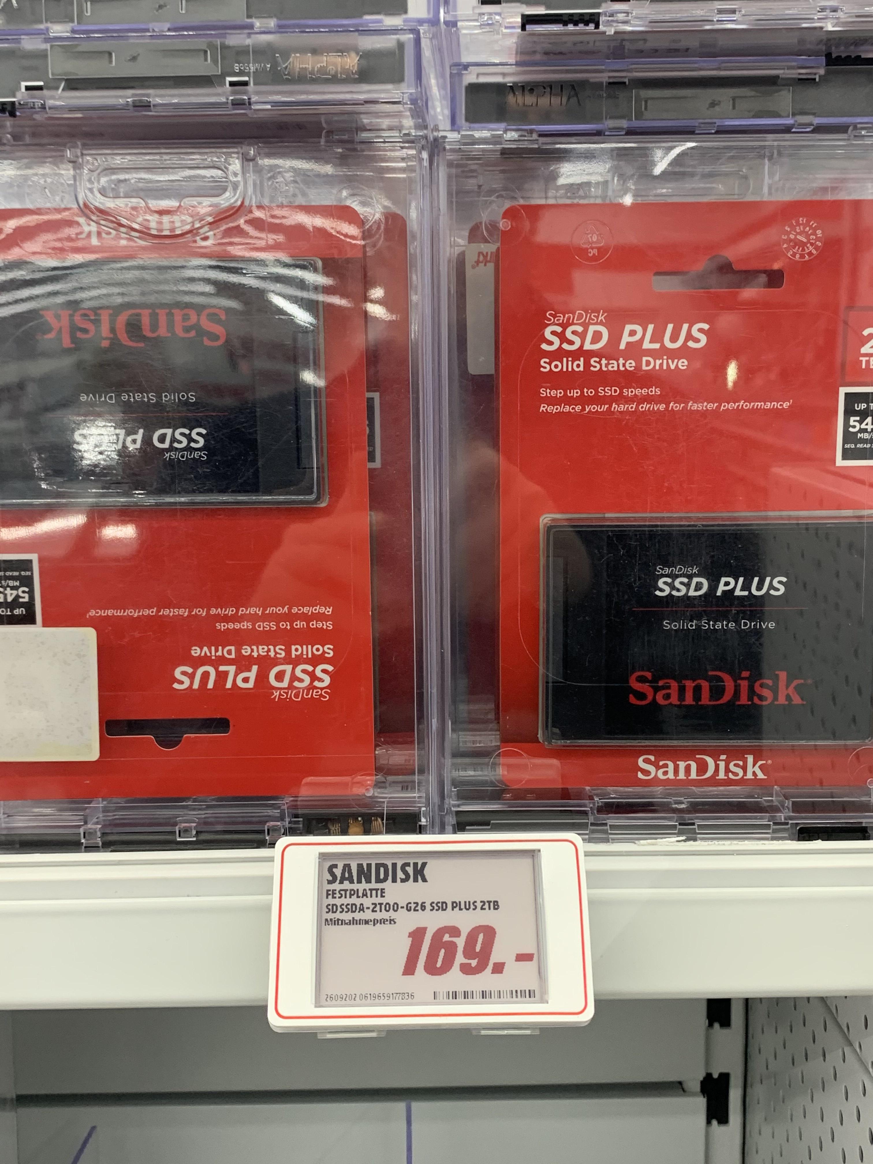 [LOKAL Ingolstadt MediaMarkt und bei Saturn Online] Sandisk SSD Plus 2TB