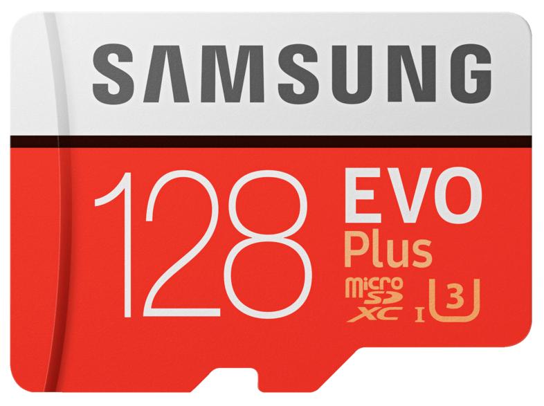 SAMSUNG Evo Plus 128GB microSDXC Speicherkarte (Class 10, U3, 100 MB/s Lesen, 90 MB/s Schreiben) für 16€ versandkostenfrei [MediaMarkt]