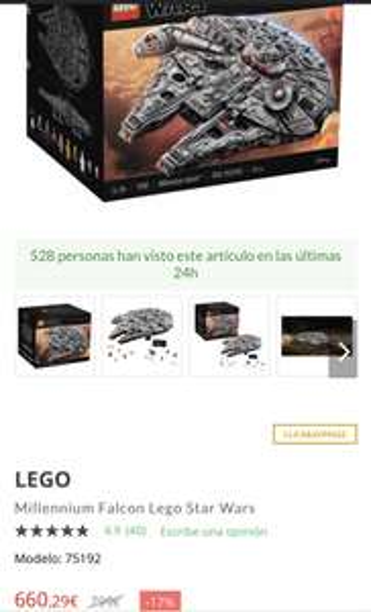 LEGO Star Wars - 75192 - Millennium Falke