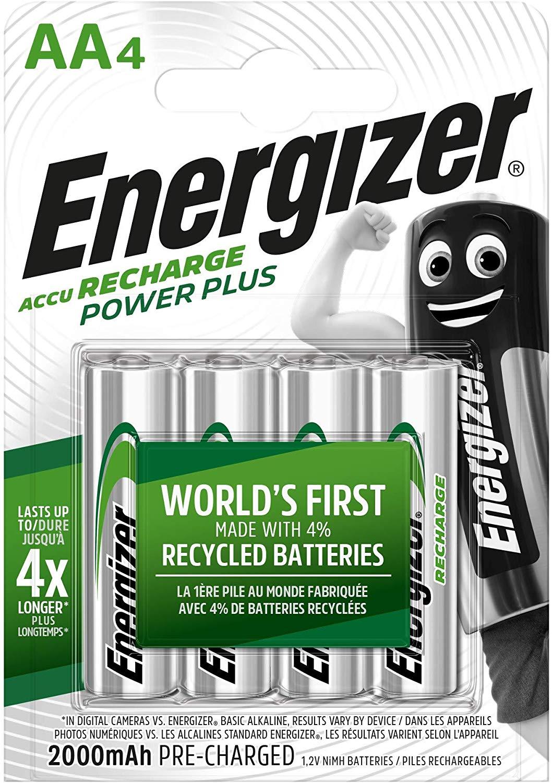 4x Energizer AA/AAA Akkus, Recharge Power Plus 4€ oder mit Ladegerät 9€   Klebeband 0,99€   Curver Wäschebox 55L 9€ [27.01. Kodi]