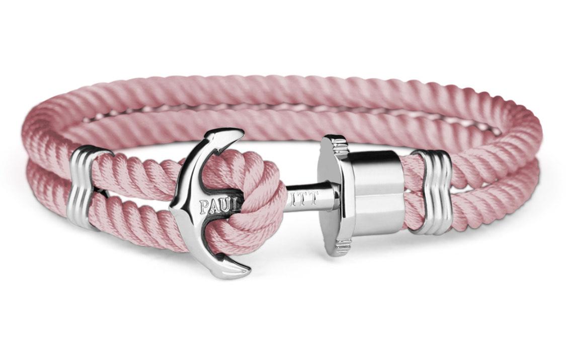 Ankerarmband Phrep Silber Nylon Aurora