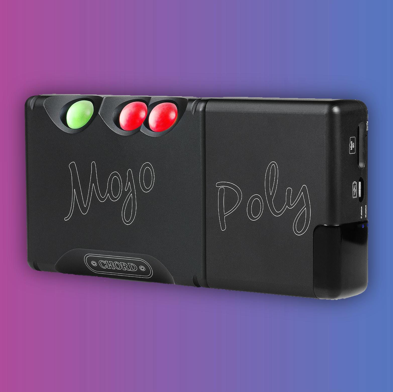 Chord Mojo: Kopfhörerverstärker (768kHz/32Bit, DSD256) + Chord Poly: Streaming Modul (Apple AirPlay, 2,4Ghz WiFi)