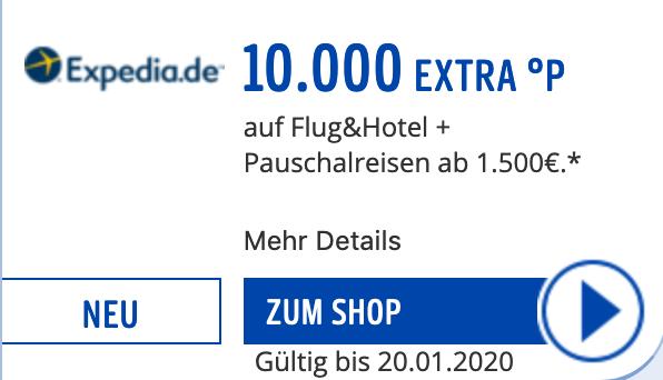 10.000 Paybackpunkte bei Expedia für Buchungen ab 1500€