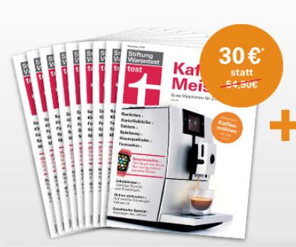 9 Ausgaben Stiftung Warentest + Extras