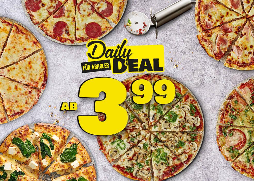 Dominos Pizza nur 3,99 für Selbstabholer [für traditionelle Pizzen Classic 25 cm]