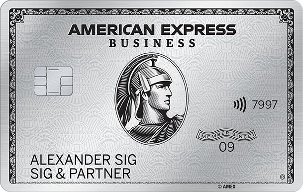 500€ Startguthaben (100.000 Punkte ) American Express Business Platinum Kreditkarte